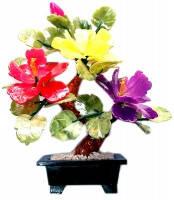 Каменный цветок (Пион в квадратном мраморном горшке),