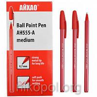 Ручка масляная AIHAO AH555-А красная