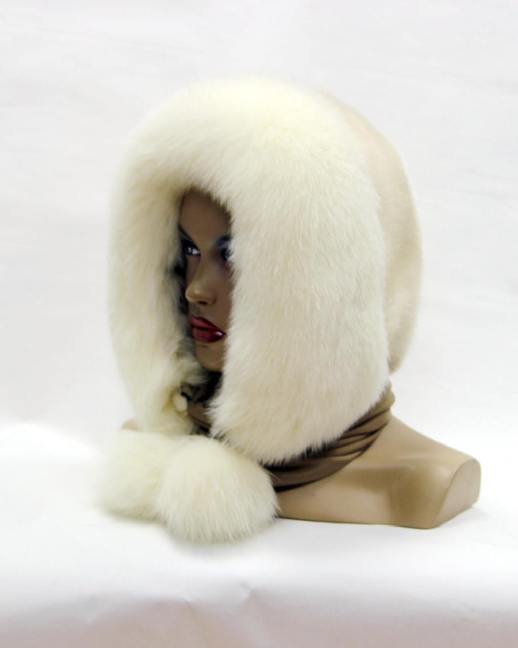 Шарф платок из меха песца и норки (белый-жемчуг) - Меховые шапки, интернет магазин Vecons, женские и мужские шапки, головные уборы, обувь и аксессуары. в Краматорске