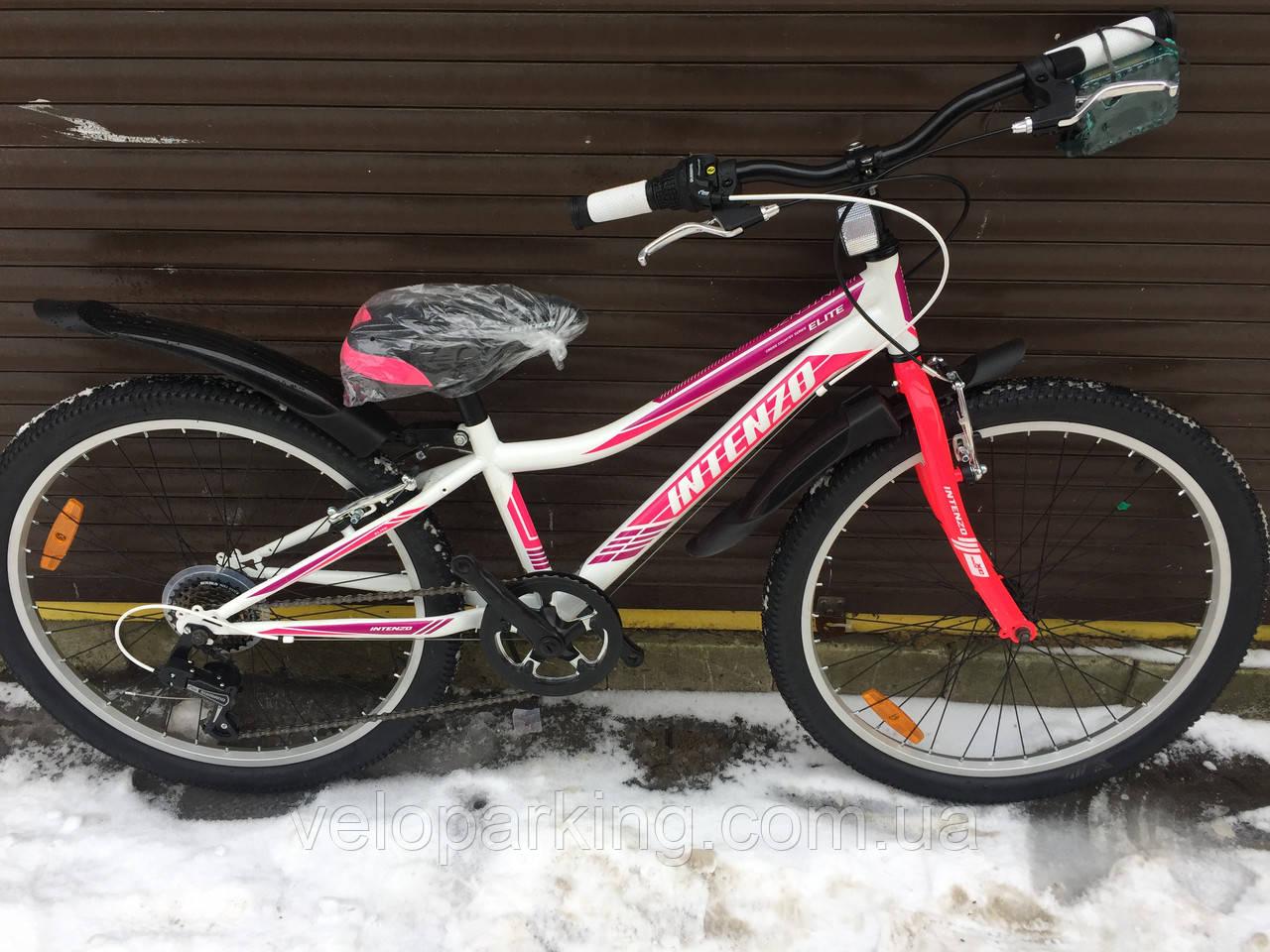 Горный подростковый велосипед для девочки Intenzo Elite 24 (2018) new