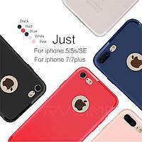 Чехлы для iPhone 5/5s SE силиконовые матовые