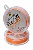 Шнур плетеный NTEC Fly-Cat Orange 274м, Ø0.18мм, 11.3кг
