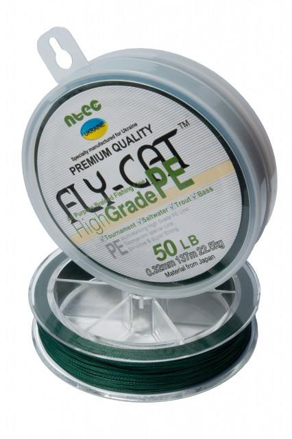 Шнур плетений NTEC Fly-Cat Moss Green 137м, Ø0.20мм, 13.5 кг
