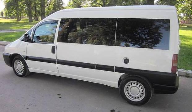 Передний салон, длинная база левое окно на Fiat Scudo, Peugeot Expert, Citroen Jumpy 1995 - 2008