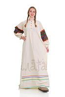 Национальное льняное платье