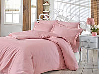 Постельное белье сатин  Nazenin евро размер розовый