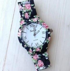 Часы наручные Женева цветочный принт женские