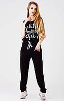 Комбинезон женский, цвет: черный, размер: 44, 46