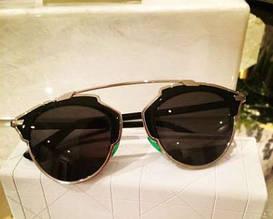 Очки Dior So Real (черные в серебряной оправе)