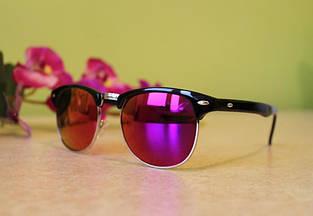 Солнцезащитные очки зеркальные  (малиновые)