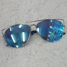 Очки Dior Technologic(голубые зеркальные)