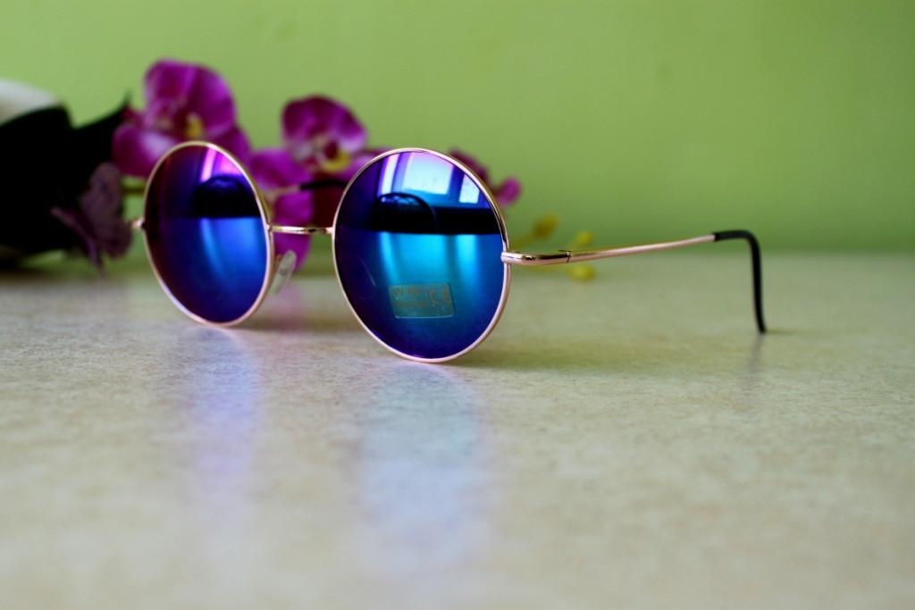 Очки солнцезащитные 2015 круглые линзы зеркальные
