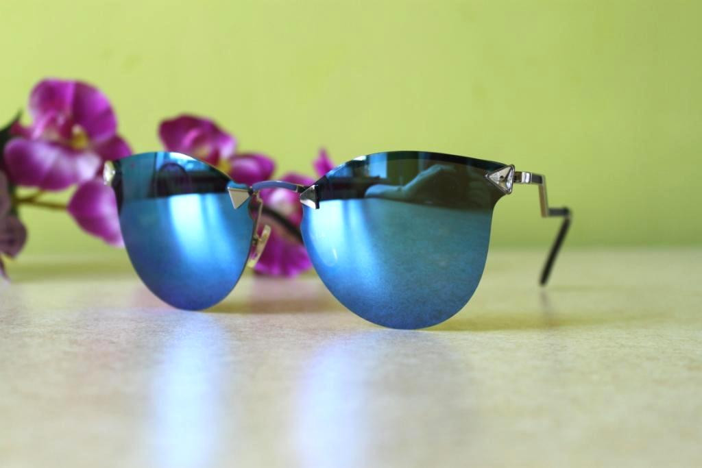 Солнцезащитные очки Fendi Iridia (голубые зеркальные)