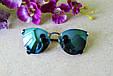 Солнцезащитные очки Fendi Iridia (голубые зеркальные), фото 2