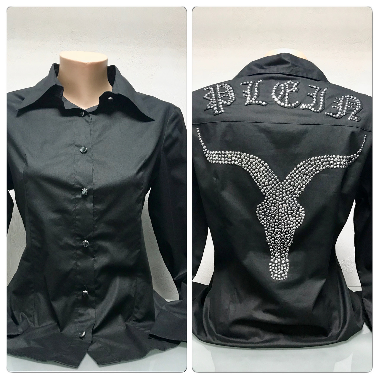 Блуза женская в стиле Filipp Plein .