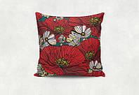 Подарочная подушка с цветочным принтом