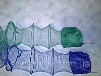 Садок для рыбалки 5 колец из кордовой нити с металлическим штырем, фото 1