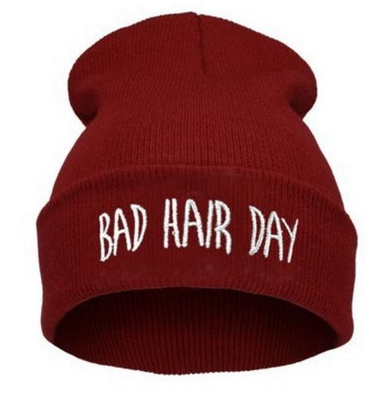 Шапка женская Bad Hair Day (бордовая)
