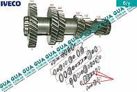 Вторичный вал КПП 5-ти ступенчатой ( механической коробки переключения передач ) 8858636 Iveco / ИВЕКО DAILY II 1989-1999 / ДЭЙЛИ Е2 89-99