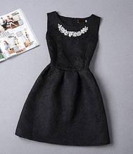 Платье женское нарядное (черное)