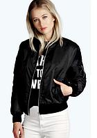 Куртка бомбер женская (черная)