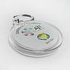 Акриловый брелок на кольце круглый 45х50 мм c картинкой, логотипом, фото