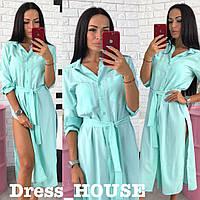 Накидка пляжная платье-рубашка Н-0086