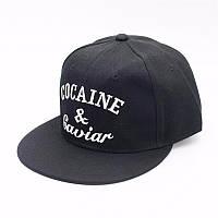 Кепка снепбек Cocaine and Gaviar с прямым козырьком