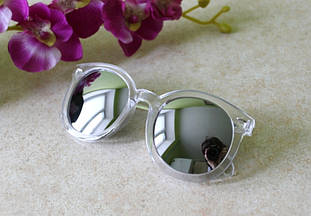 Солнцезащитные очки прозрачная оправа зеркальные