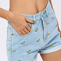 Шорты женские с бананами