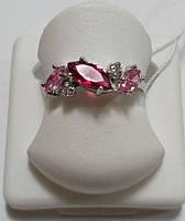 Кольцо Весеннее из серебра с разноцветными камнями