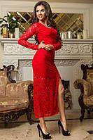 Гипюровое платье в пол  в расцветках 32361, фото 1
