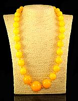 Бусы из янтарной смолы на увеличения,желтые (2), фото 1