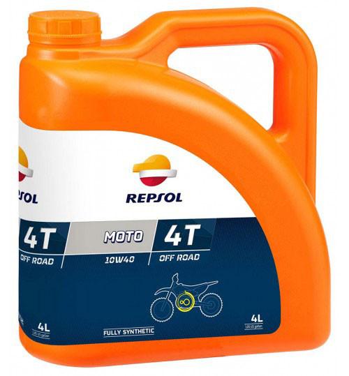 Моторное масло Repsol Moto OFF ROAD 4T 10W40 (4л)