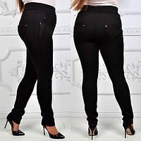 Женские батальные брюки на флисе 881722
