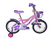 Велосипед детский для девочек Azimut Kiddy 18
