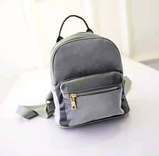 Рюкзак женский  Бархат (серый)