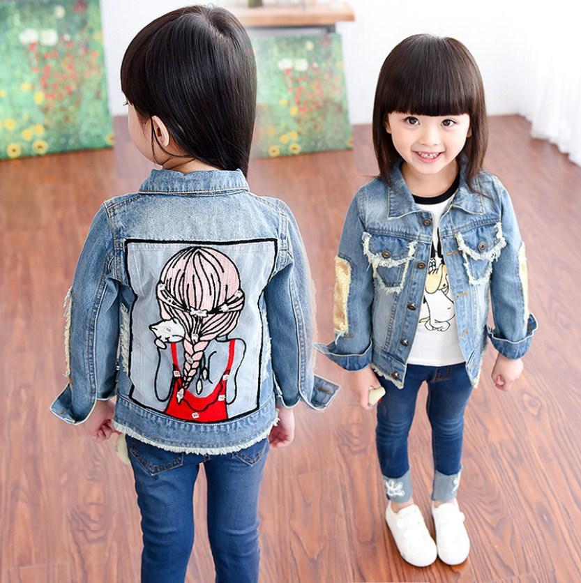"""Классная джинсовая куртка на девочку """"Котенок"""""""