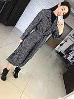 """Женское демисезонное пальто миди длины """"Дания"""". Ткань: кашемир. Размер: 42,44,46,48,50."""
