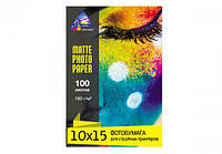 Фотопапір INKSYSTEM Matte Photo Paper 180g, 10x15, 100 листов (Артикул 6107)