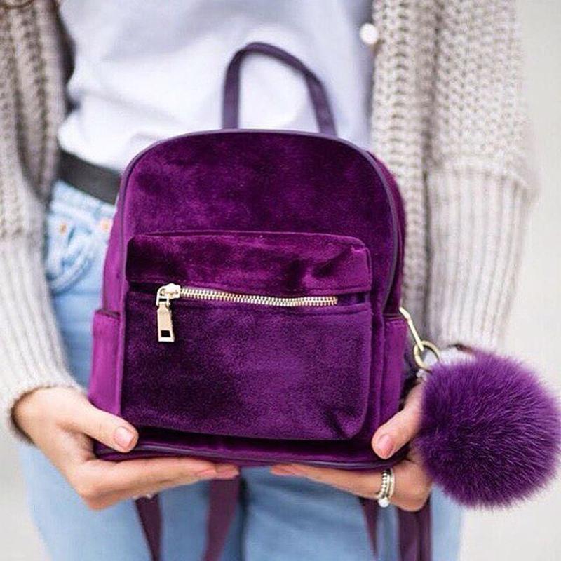 Рюкзак женский  Бархат (фиолетовый)
