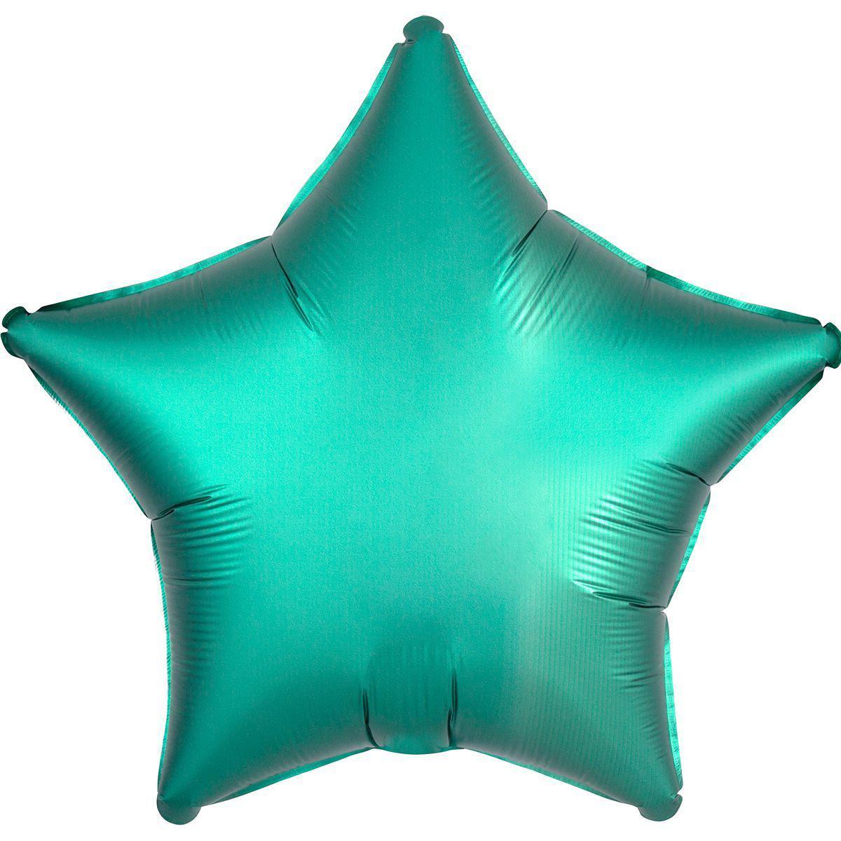 """Фольгированные шары без рисунка  18"""" звезда сатин Изумрудная s15 (Anagram)"""