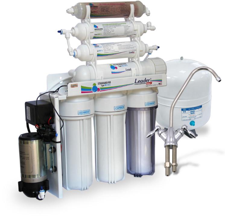 Фильтр для очистки воды - система обратного осмоса Leader Standard RO-6 bio pump