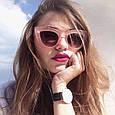 Окуляри сонцезахисні кішечки рожева оправа, фото 3