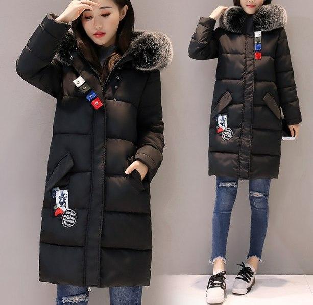 Куртка Зимняя Женская Пуховик с Лампасами (черная) — в Категории