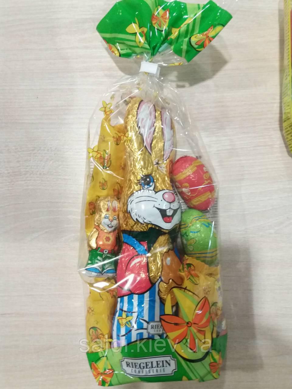 Шоколадный набор Riegelen заяц с подарком 250г