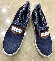 Мокасины женские джинсовые 36-41