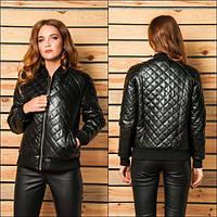 Куртка женская женская стеганная ВБС-72 черный