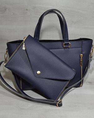Женская удобная яркая и стильная сумка-клатч синего цвета 54504, фото 2