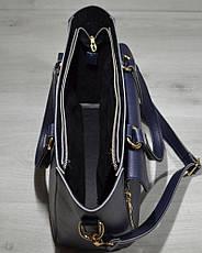 Женская удобная яркая и стильная сумка-клатч синего цвета 54504, фото 3